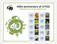 UNNY S52 $1.05 40th Anniversary CITES Personalized Sheet of 10 unnys52