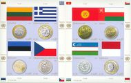 UNV 483 .65e 2011 Coins and Flags Sheet of 8 unv483