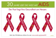 UNV 498 .70e Living with Aids S/S of 4 unv498