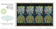 UNV 505-6 .62e, .70e Int Year of Forests Sheet of 8 unv506s