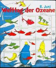 UNV 528  .70 World Oceans Sheet of 12 unv528sh