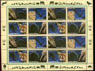 UNV 534-7 .70 Endangered Species Sheetlet of 16 unv534-7sh