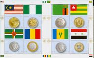 UNV 539 .70 Flag and Coin Sheetlet of 8 unv539sh