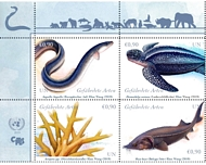 UNV 634-37 €.90 Endangered Species Mint NH Block of 4 unv634-37