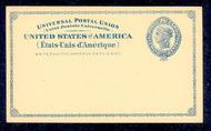 UX  6   2c Liberty blue F-VF Mint Postal Card ux6