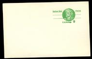 UX 72a 9c Nathan Hale Missing cent sign error Mint Postal card ux72a