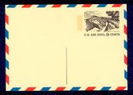 UXC12   9c Grand Canyon. F-VF Mint Airmail Postal Card UXC12
