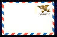 UXC16   21c Visit USA F-VF Mint Airmail Postal Card UXC16