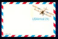 UXC17   21c Jenny F-VF Mint Airmail Postal Card UXC17