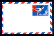 UXC18   21c Olympics F-VF Mint Airmail Postal Card UXC18