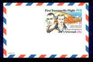 UXC19   28c Trans-Pacific F-VF Mint Airmail Postal Card UXC19