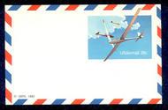 UXC21   28c Skating F-VF Mint Airmail Postal Card UXC21