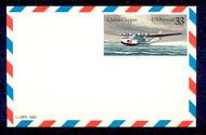 UXC22   33c Clipper F-VF Mint Airmail Postal Card UXC22