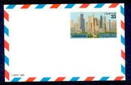 UXC23   33c Ameripex F-VF Mint Airmail Postal Card UXC23