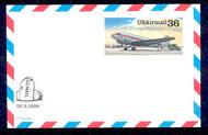 UXC24   36c DC-3 F-VF Mint Airmail Postal Card UXC24