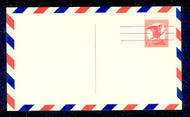 UXC4   6c Bald Eagle F-VF Mint Airmail Postal Card UXC4