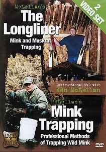 THE LONGLINER  MINK & MUSKRAT TRAPPING  by Ken McLellan DVD #TLMMTbyKenMcLellan