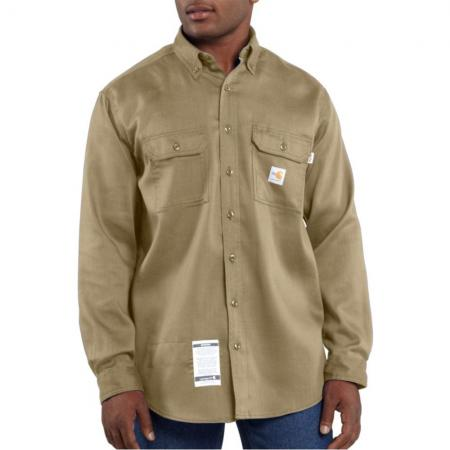 Carhartt Men�s Flame-Resistant Work-Dry Lightweight Twill Shirt FRS003