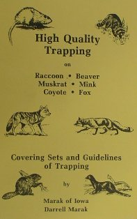 High Quality Trapping Book by Darrell Marak #marakbk01