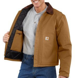 Carhartt Men's Duck Traditional Jacket/Arctic-Quilt Lined #J002