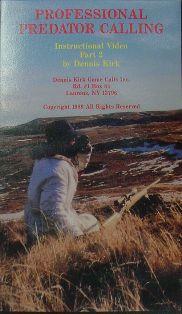 Professional Predator Calling Part II DVD by Dennis Kirk #kirkvideo07
