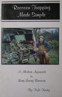 Raccoon Trapping Made Simple Book by Kyle Kaatz #kaatzbk01