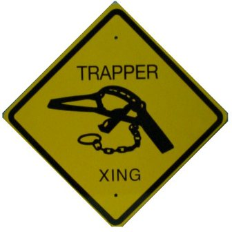 Metal Trappers Crossing Sign metalsign