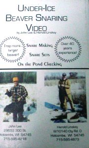 UNDER-ICE BEAVER SNARING by John Lee & Harold Linskey DVD UIBS13