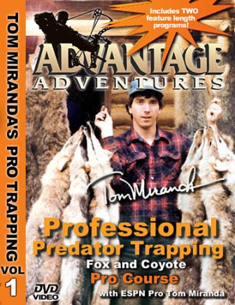 Tom Miranda Professional Predator Trapping for Fox and Coyotes Pro Course DVD #39714