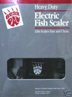 Bear Paw Heavy Duty ELECTRIC FISH SCALER HD-E-FS #HDEFS