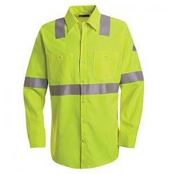 Bulwark Hi-Visibility Flame-Resistant Work Shirt - 7 oz. SMW4HV