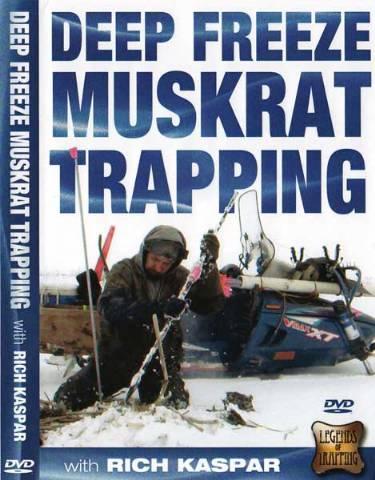 """Rich Kaspar's """"Deep Freeze Muskrat Trapping"""" DVD #dfreeze12"""