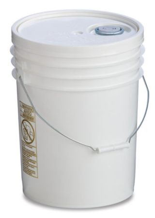 Food Grade Plastic Bucket with Lid 5 Gallon Capacity foodg5b