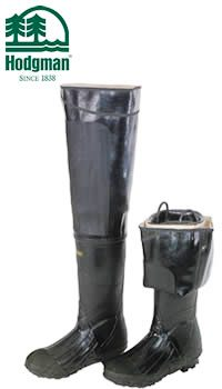 Hodgman Heavy-Duty Rubber Hip Waders - Lug Sole  W131BLK