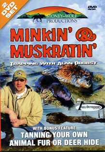 Minkin' & Muskratin Trapping with Alan Probst DVD SW9109