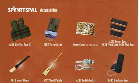 Sportspal Canoe Accesories #AC02M