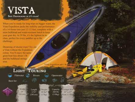 Walden Vista 12' 6 Kayak vista