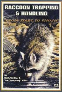 Keith Winkler's Raccoon Trapping & Handling: From Start to Finish DVD #kw92382