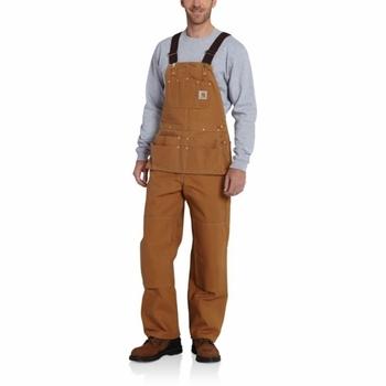 Carhartt Men's Duck Carpenter Bib Overalls Unlined #R28