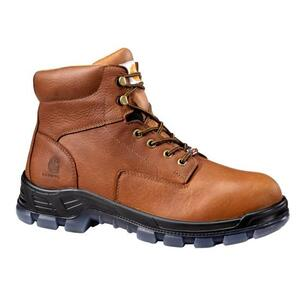 CARHARTT 6-INCH BROWN WORK BOOT - MADE IN THE USA CMZ6040