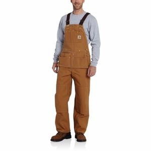 Carhartt Men's Duck Carpenter Bib Overalls Unlined R28
