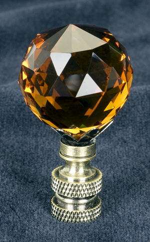 0220 Amber Beveled Glass Ball 0220
