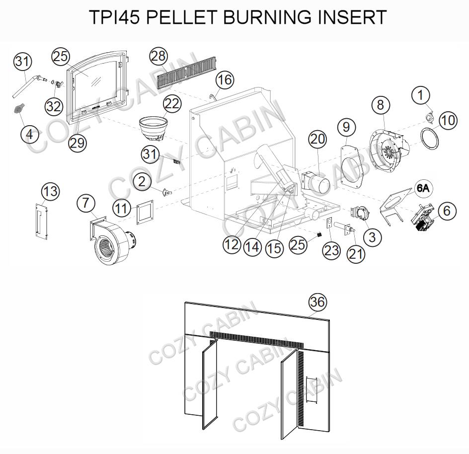 Timberwolf Pellet Burning Insert Tpi35 Napoleon Parts Hopper Wiring Diagram