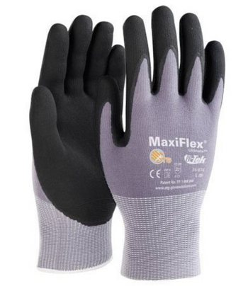 ATG Work Gloves MaxiFlex Ultimate 34-874 Nitrile Foam Palm Coated Grip #34-874