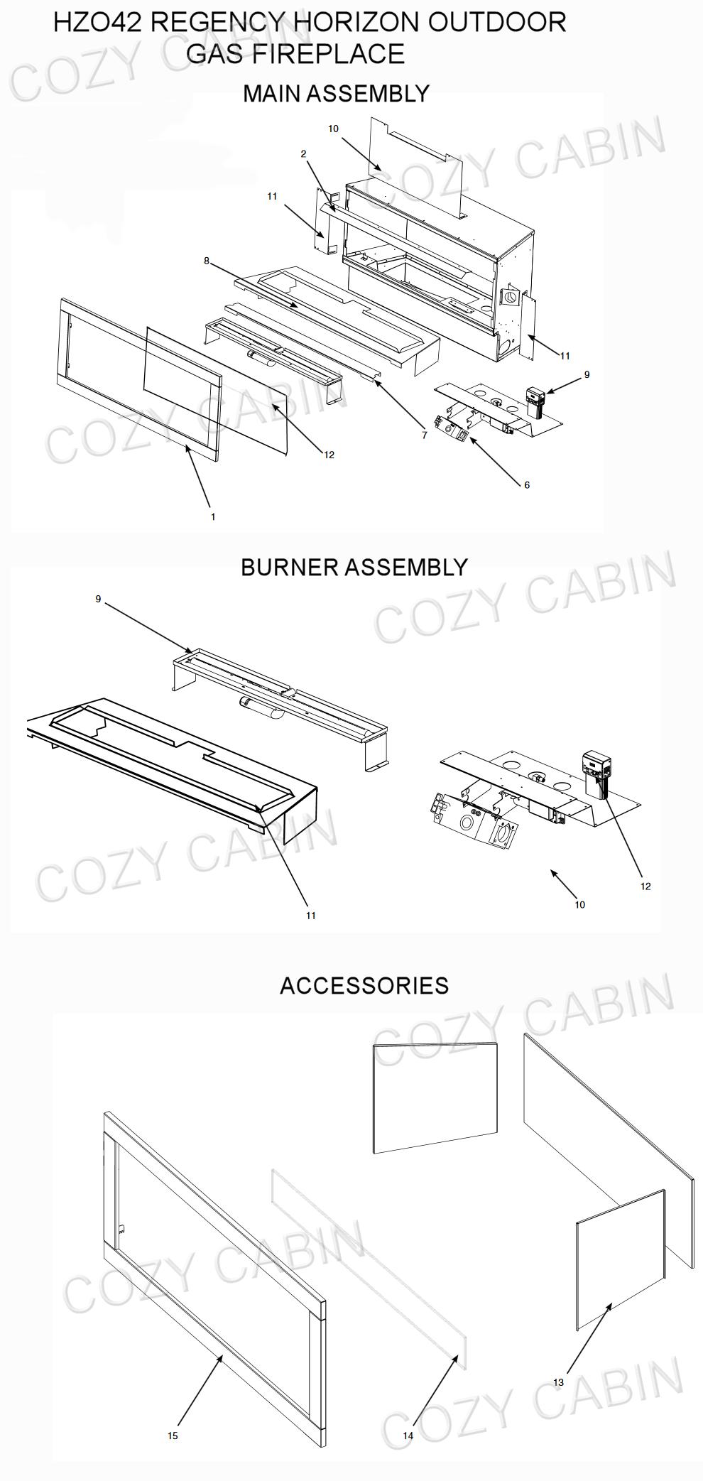 Horizon Outdoor Gas Fireplace Hzo42 Hzo42 Cozy Cabin Regency