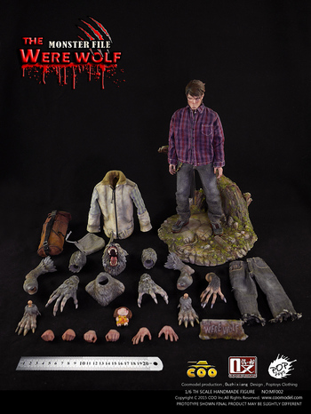 """Coo Models 1/6 Scale 12"""" Monster File No. 2 The Werewolf Action Figure MF002 #MF002"""