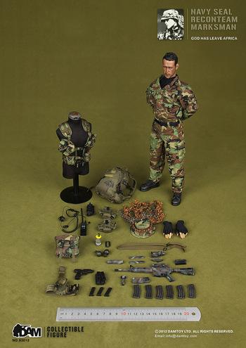 "DAM 1/6 Scale 12"" US Navy Seal Recon Team Marksman Action Figure 93013 #93013"
