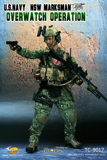 """Toys City 1:6 Scale 12"""" Figure US Navy NSW Marksman Overwatch Operation TC-9017 #9017"""