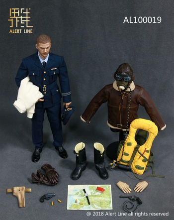 "Alert Line 1/6 Scale 12"" British Royal Air Force Pilot Action Figure AL100019 #AL-100019"