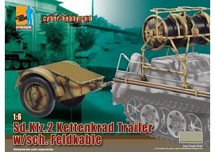 1/6 Scale German Kettenkrad Trailer W/Sch. Feldkable 71255 #71255